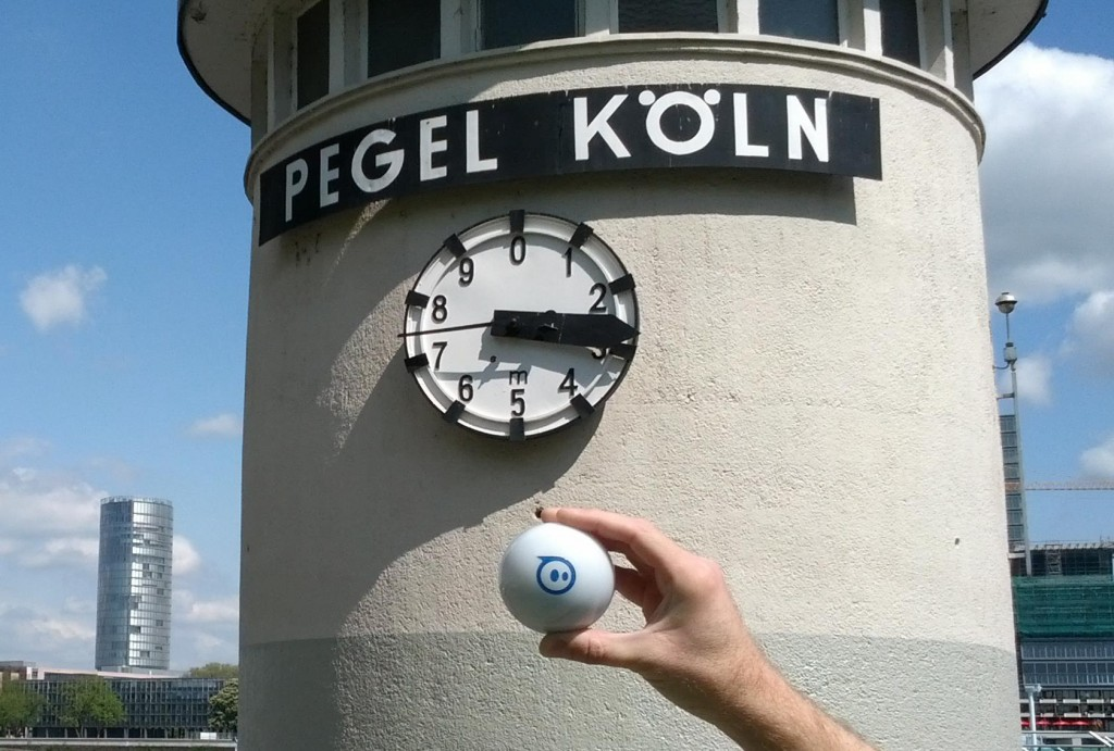 Sphero and the River Rhine, Cologne, Germany
